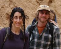 Hiking in in the desert in Israel