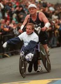 Rick and Dick Hoyt have been racing together for over 20 years