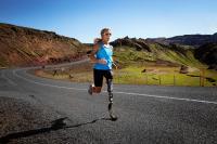Sarah Reinertsen is the first female amputee to complete an Ironman Triathlon